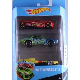 фото Набор машинок Mattel Hot Wheels PK5904. Цвет: красный, желтый, зеленый