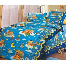 фото Детский комплект постельного белья Бамбино «Сладкий сон». Цвет: синий