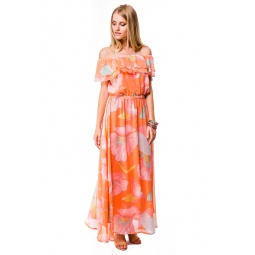 фото Платье Mondigo 5101. Цвет: персиковый. Размер одежды: 42