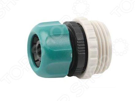 Переходник Raco 4250-55291CКоннекторы и штуцеры для соединения шлангов<br>Переходник Raco 4250-55291C предназначен для резьбового соединения шланга диаметром 1 2 или 3 4 с водопроводной трубой, насосами и другими устройствами с внешней резьбой 3 4 или 1 . Он легок и весьма прост в использовании. Переходник изготовлен из пластика, что исключает появление на нем ржавчины, а резиновые уплотнительные кольца предотвращают от протекания и обеспечивают надежное крепление.<br>