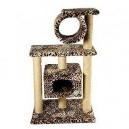 фото Домик для кошек ЗООНИК 2-х этажный с трубой
