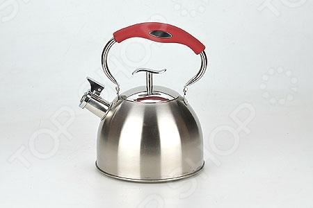 Чайник со свистком Mayer&amp;amp;Boch Shiny TildeЧайники со свистком и без свистка<br>Чайник со свистком Mayer Boch Shiny Tilde - выполнен из долговечной и прочной стали, которая не окисляется и устойчива к коррозии. Объем чайника составляет 3 литра, оснащен свистком, благодаря которому вы можете не беспокоиться о том, что закипевшая вода зальет плиту. Как только вода закипит - свисток оповестит вас об этом. Капсулированное дно с прослойкой из алюминия обеспечивает наилучшее распределение тепла. Ручка чайника изготовлена из специального теплоустойчивого материала, который не обжигает руки. Удобный и практичный чайник отлично впишется в интерьер любой кухни. Можно мыть в посудомоечной машине.<br>