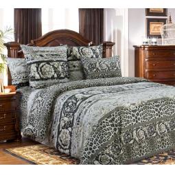 фото Комплект постельного белья Белиссимо «Корнет». 2-спальный. Цвет: серый