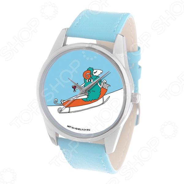 Часы наручные Mitya Veselkov «Овечка на саночках» Color
