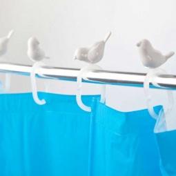 фото Крючки для штор в ванную Balvi Peeking Birds
