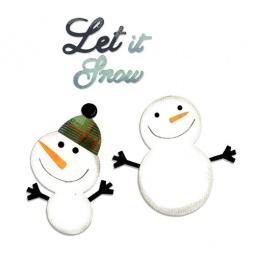 фото Форма для вырубки Sizzix Bigz Die Снеговики и Sizzlits Die