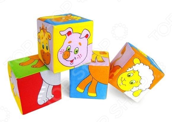 Кубики обучающие мягкие Мякиши «Животные 2» обучающие мультфильмы для детей где