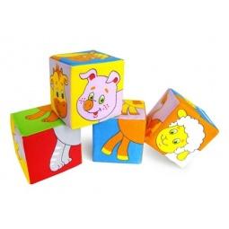 фото Кубики обучающие мягкие Мякиши «Животные 2»