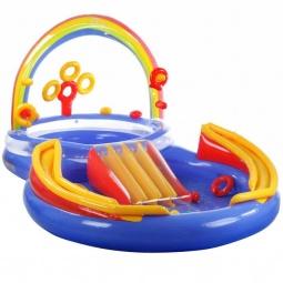 фото Игровой центр-бассейн надувной Intex «Двойной бассейн с горкой»