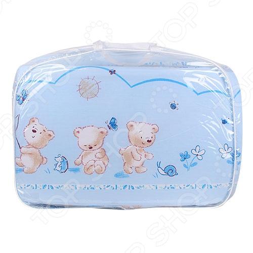 фото Комплект в кроватку Луняшки «Мишки на прогулке», Постельные принадлежности для новорожденных