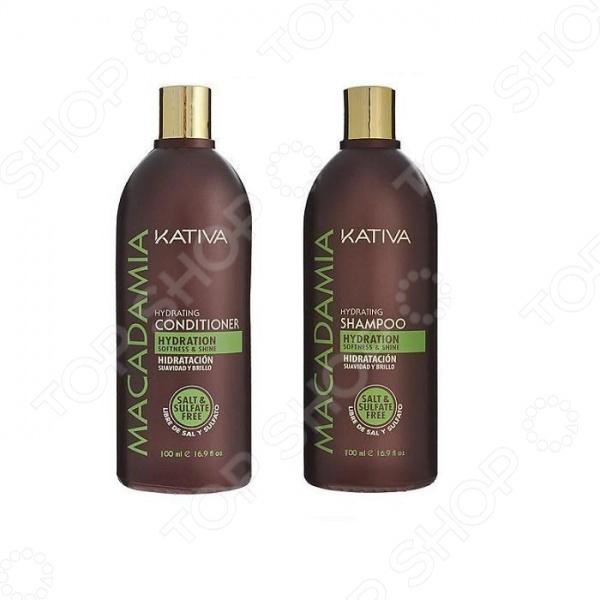 Набор для поврежденных волос: шампунь и кондиционер Kativa 65803072 Macadamia Набор для поврежденных волос: шампунь и кондиционер Kativa 65803072 Macadamia /