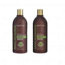 фото Набор для поврежденных волос: шампунь и кондиционер Kativa 65803072 Macadamia