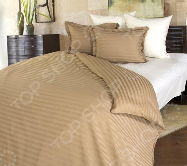 Комплект постельного белья Королевское Искушение «Латте» постельное белье estro комплект постельного белья семейный тенсел antonella