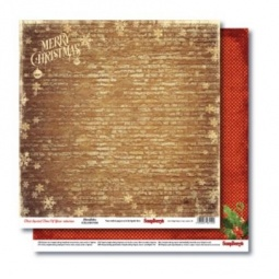 фото Бумага для скрапбукинга двусторонняя ScrapBerry's «С Рождеством!»