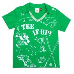 Купить Рубашка-поло для мальчиков Fore!! Axel and Hudson Tee It Up Print Johnny Collar