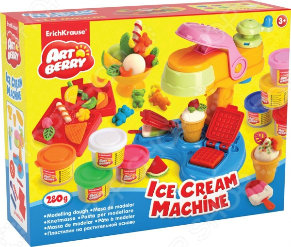 Набор пластилина на растительной основе Erich Krause Ice Cream Machine