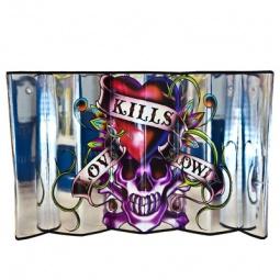 Купить Шторка солнцезащитная на лобовое стекло ED Hardy EH-00107 Love kills slowly