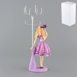Купить Подставка для колец и цепочек Elan Gallery «Модница в сиреневом платье»