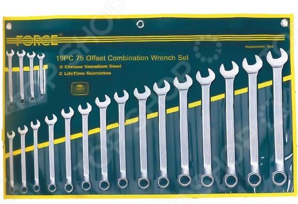 Набор ключей комбинированных Force F-5192  force 5121 набор комбинированных ключей 8 23 мм