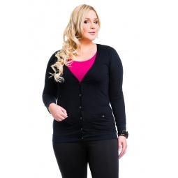 фото Жакет Mondigo XL 8505. Цвет: черный. Размер одежды: 52