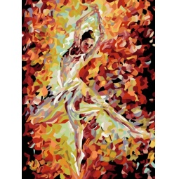 фото Набор для живописи на холсте Белоснежка «Огонь свечи» 711-AS