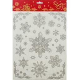 фото Пленка декоративная для окна Феникс-Презент 31489 «Снежинки 4»