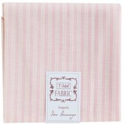 фото Отрез ткани Tilda Кухонный узор в полоску. Цвет: розовый