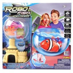 фото Набор игровой интерактивный Robofish «РобоРыбка с 2 кораллами, замком и аквариумом»