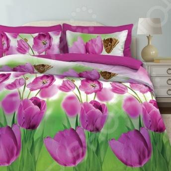 Комплект постельного белья Любимый дом «Май» комплект постельного белья любимый дом комплект постельного белья лебеди любимый дом евро 2 наволочки 70х70 см хлопок