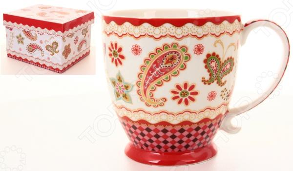 Кружка Elan Gallery «Цветочная красная мозаика» elan gallery кружка цветочная симфония на красном