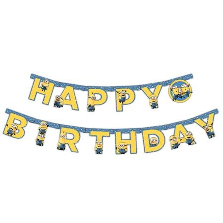 Купить Гирлянда из флажков Росмэн 28299 «Minions. С днем рождения!»