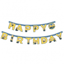 фото Гирлянда из флажков Росмэн 28299 «Minions. С днем рождения!»