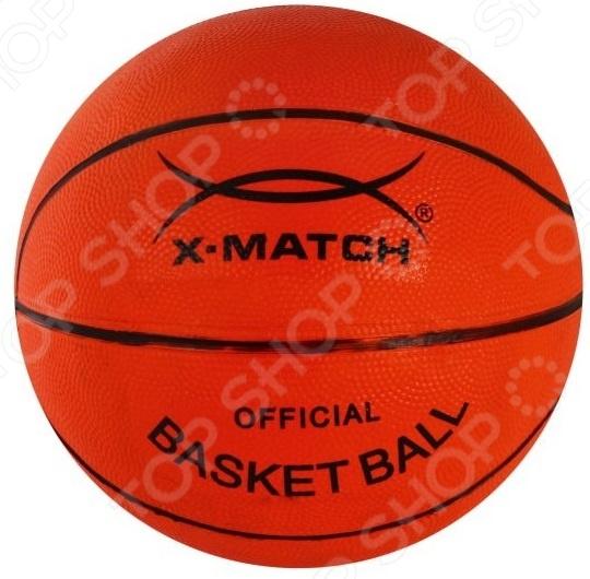 Мяч баскетбольный X-MATCH 56186Мячи баскетбольные<br>Мяч баскетбольный X-MATCH 56186 качественное изделие, которое сделает занятие спортом еще более воодушевляющим и увлекательным. Размер 5, количество панелей 8. Материал покрышки резина. Материал камеры резина.<br>
