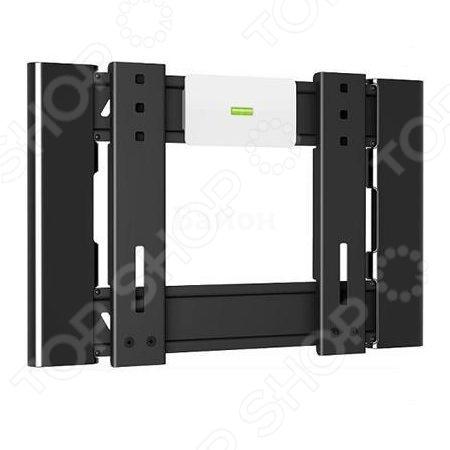 Кронштейн для телевизора Holder F2606-BКронштейны для телевизоров<br>Кронштейн для телевизора Holder F2606-B поможет организовать пространство в гостиной или любой другой комнате. Ведь гораздо удобнее, когда телевизор установлен не на столе или тумбе, а на стене. Внимание, установка кронштейна потребует создания отверстий в стене, поэтому желательно обратиться к специалисту по монтажу.  Предназначен для моделей с диагональю экрана в диапазоне 22-47 .  Выдерживает максимальный вес до 30 кг.  Есть пузырьковый уровень для удобного выравнивания телевизора по горизонту.  Предусмотрена системе скрытой укладки проводов для фиксации всех кабелей в одном месте.  Система Double Hook обеспечивает надежность фиксации телевизора на кронштейне. Нагрузка на основание распределяется равномерно.<br>