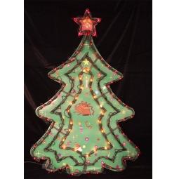 Купить Декорация рождественская с гирляндой Метелица «Елочка» 2275