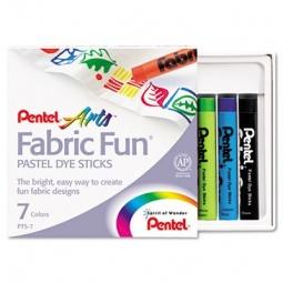 фото Пастель для ткани Pentel Fabric Fun Pastels: 7 цветов