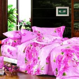 фото Комплект постельного белья Amore Mio Pink Pearls. Provence. Семейный