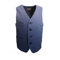 фото Жилет в полоску La Miniatura Seersucker Vest. Рост: 98-104 см