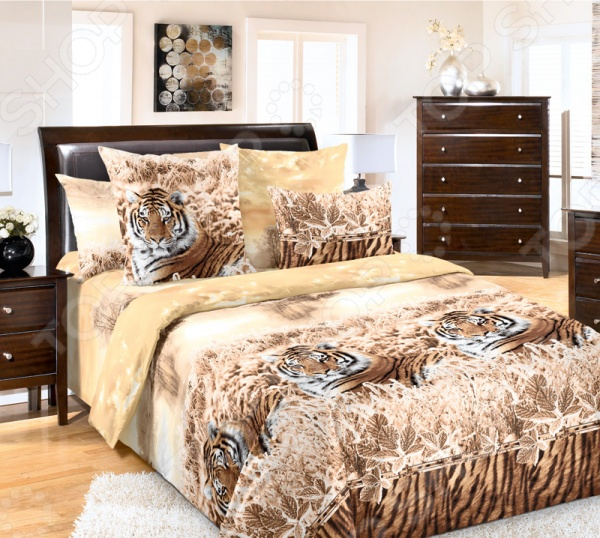 Комплект постельного белья Белиссимо «Хранитель». 2-спальный2-спальные<br>Комплект постельного белья Белиссимо Хранитель это незаменимый элемент вашей спальни. Человек треть своей жизни проводит в постели, и от ощущений, которые вы испытываете при прикосновении к простыням или наволочкам, многое зависит. Чтобы сон всегда был комфортным, а пробуждение приятным, мы предлагаем вам этот комплект постельного белья. Приятный цвет и высокое качество комплекта гарантирует, что атмосфера вашей спальни наполнится теплотой и уютом, а вы испытаете множество сладких мгновений спокойного сна. Комплект сшит из бязи. У такой ткани есть ряд преимуществ:  плотная ткань гарантирует длительный срок службы;  приятна на ощупь;  не деформируется и не теряет цвет даже после многочисленных стирок;  белье гигиенично, не вызывает аллергических реакций.<br>
