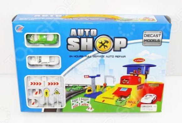 Набор игровой для мальчика Shantou Gepai «Гараж-автосалон»Игровые наборы для мальчиков<br>Набор игровой для мальчика Shantou Gepai Гараж-автосалон - отличный подарок для любого мальчика. В набор входят 2 металлические машинки размером 7,5 3 см, а так же знаки дорожного движения. Платформа гаража имеет размеры 19,5 17,5 см. Для быстрого спуска машинок предусмотрен пандус. Модель оснащена различными функциональными деталями, которые позволят значительно разнообразить игровой процесс и сделать его еще более интересным и реалистичным. Такая игрушка на долго привлечет внимание ребенка, будет способствовать развитию воображения, мышления, мелкой моторики и сенсорного восприятия. Размеры коробки 35 23 6,5 см.<br>