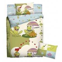 Купить Детский комплект постельного белья Мармелад «Лягушки»