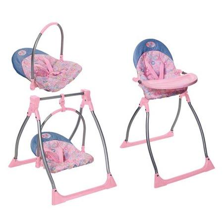 Купить Набор для кукол: стульчик, качели и переноска Zapf Creation 816-189 (3 в 1)