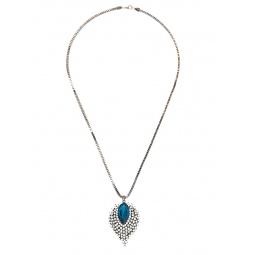 Купить Кулон Mitya Veselkov «Листок с голубым камнем и вставками»