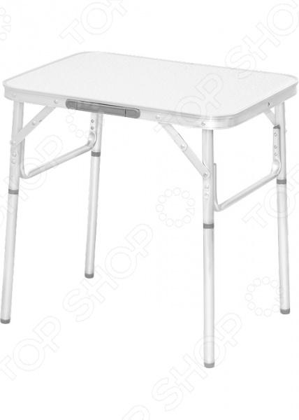 Стол складной PALISAD Camping 69582Табуреты, стулья, столы<br>Стол складной PALISAD Camping 69582 отличный стол для пикников, рыбалки и кемпинга. Благодаря легкому весу и складной конструкции его очень удобно брать с собой в поездку. Материал столешницы: влагой, морозостойкий МДФ. Регулятор высоты позволяет выравнивать стол на неровной поверхности, придавая столу устойчивость.<br>