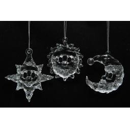 фото Елочное украшение Crystal Deco «Звезда, Луна, Солнце». В ассортименте