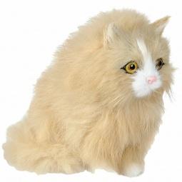 Купить Сувенир из меха интерактивный «Кошка сидящая с голосом»