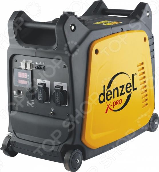 Генератор инверторный Denzel GT-2600i X-ProБензиновые генераторы<br>Генератор инверторный Denzel GT-2600i X-Pro устройство, используемое для автономного снабжения электроэнергией бытовой техники, строительных инструментов, осветительных приборов и электроники в условиях отсутствия электричества в общей сети питания. Инверторный генератор также применяется для приборов, предъявляющих высокие требования к потребляемой энергии. В основном, это цифровые устройства, серверное хозяйство, газовые котлы. Одни из основных преимуществ генератора компактность и портативность, за счет чего устройство не занимает много места и может быть легко транспортировано. Генераторы инверторного типа отличаются высокой эффективностью работы и отсутствием скачков напряжения. Схемы управления электронные, поэтому такие генераторы иногда называют цифровыми. На специальном табло пользователь сможет просмотреть всю необходимую информацию о состоянии работы устройства. Также необходимо отметить низкий шумовой эффект во время работы устройства за счет наличия глушителей кожухов . Такая модель генератора идеально подойдет для обеспечения электроэнергией некоторых приборов на дачных участках. Его также можно взять с собой в поездку или использовать в качестве источника питания во время ремонта.<br>