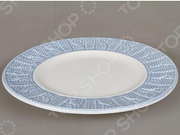 Тарелка Rosenberg 1000Обеденные тарелки<br>Тарелка Rosenberg 1000 блестяще выполненная модель, которая непременно станет украшением как для праздничного, так и для обеденного стола. Тарелка выполнена из высококачественной стеклокерамики и декорирована оригинальным орнаментом по бокам. Подходит как для горячей, так и для холодной пищи.<br>