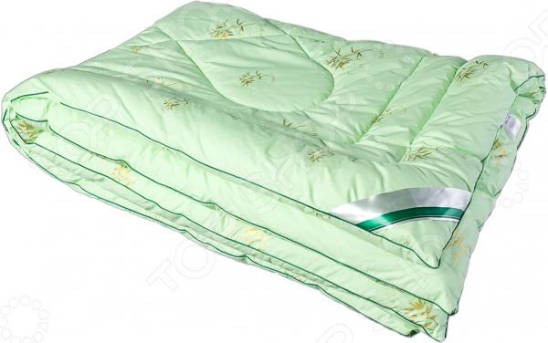 Одеяло Dream Time «Бамбук»Одеяла<br>Качество постельных принадлежностей залог комфортного и крепкого сна. Если каждое утро вы ощущаете усталость и подавленность, значит пришло время задуматься о том, на чем вы спите и чем укрываетесь. Возможно, все дело в материале, из которого изготовлено постельное белье, или же наполнителе одеяла. К выбору данного изделия следует подходить особенно тщательно от этого зависит ваше самочувствие и эмоциональное состояние! Уникальные свойства бамбукового волокна Одеяло Dream Time Бамбук с наполнителем из высококачественного бамбукового волокна. Внешне этот материал напоминает вискозу он очень тонкий, шелковистый, мягкий и упругий. Бамбуковое волокно получают химическим или механическим способом. В любом случае, получается качественное и безопасное для человека сырье.  Достоинства материала:  антибактериальные свойства около 70 бактерий, попадающих на волокно, уничтожаются естественным путем;  хорошая воздухопроницаемость наполнитель имеет пористую структуру с пустотами, через которые воздух может проходить беспрепятственно;  подавление неприятных запахов;  высокая прочность волокно сохранило свойства самого растения;  упругость материал легко принимает нужную форму, не образуя заломов и не деформируясь;  легкость эксплуатации бамбуковое волокно не сбивается при стирке;  гигроскопичность наполнитель прекрасно впитывает влагу, поэтому под одеялом можно спать и зимой, и летом;  мягкая структура бамбуковое волокно очень приятно на ощупь, не вызывает раздражения на коже. Лучший выбор для вашей спальни! Одеяло представлено в приятной салатовой расцветке, дополнено ненавязчивым рисунком. Даже после многочисленных стирок оно не потеряет насыщенность цвета и презентабельный внешний вид. Одеяло от Dream Time станет гармоничным продолжением любого интерьера, привнесет в него особый уют и тепло. Каждая минута, проведенная в комнате, будет вызывать исключительно позитивные эмоции. А после пробуждения вас будут сопровождать лишь бодрость, хорошее 