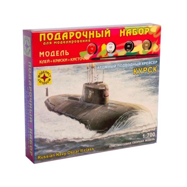 фото Подарочный набор модели подводной лодки Моделист «Атомный крейсер Курск»